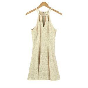 LOVE FIRE | Ivory Eyelet & Lace Laser Cut Dress